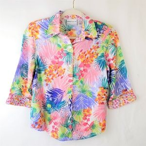 Alfred Dunner 6P Hawaiian Tropical Floral Blouse